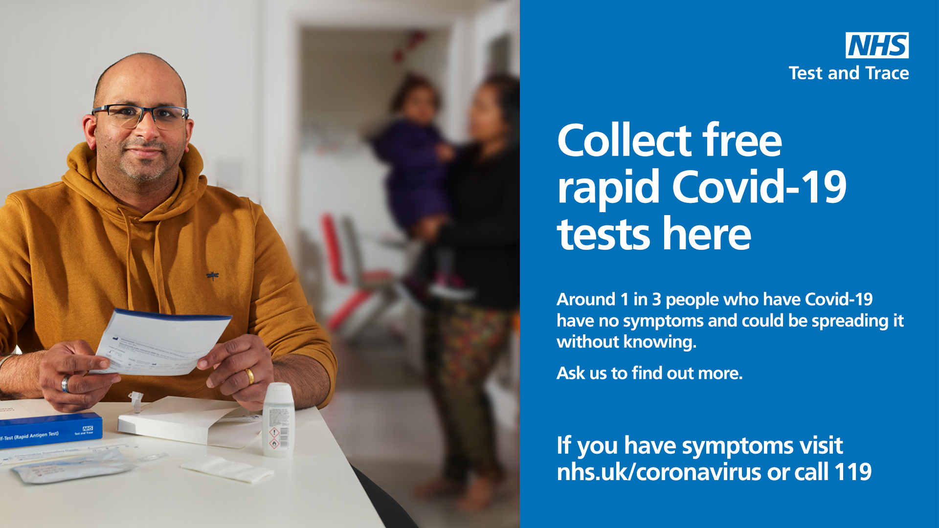 Collect free rapid Covid-19 tests here